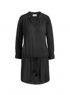 Robe de plage manches longues noire- Beach Vibes - Cyell