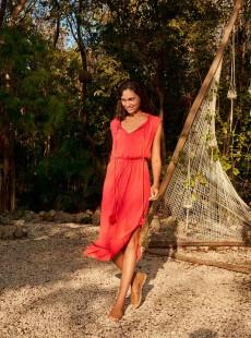 Robe Longue Rouge - Sunrise - Cyell