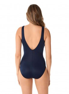 "Maillot de bain gainant Crossover Bleu Nuit - Illusionists - ""M"" - Miraclesuit swimwear"