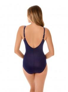 "Maillot de bain gainant Oceanus Bleu Nuit - Belmont Stripe - ""FC"" -Miraclesuit Swimwear"