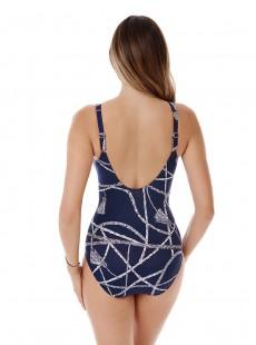 "Maillot de bain gainant Oceanus Bleu Nuit - Thoroughbred - ""M"" - Miraclesuit swimwear"