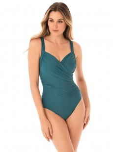 "Maillot de bain gainant Sanibel Bleu Canard - Must Haves - ""M"" - Miraclesuit swimwear"