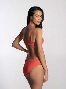 Haut de maillot de bain bandeau - Rib Coral - Cyell