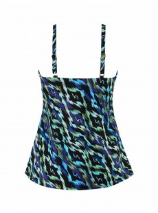 "Love Knot Tankini Top Imprimés graphique bleu vert - Jewels Of The Nile - ""M"" - Miraclesuit swimwear"