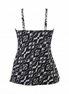 """Love Knot Tankini Top Imprimés Noir et Blanc - Labyrinth - """"FC"""" - Miraclesuit swimwear"""