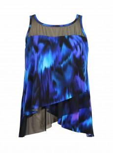 "Mirage Tankini Top Imprimés Bleu - Nuage Bleu - ""W"" - Miraclesuit swimwear"