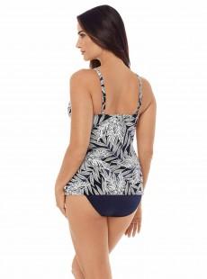 """Love Knot Tankini Top Imprimés Noir et Blanc - Fronds With Benefits - """"M"""" - Miraclesuit swimwear"""