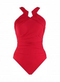 "Maillot de bain gainant Aphrodite Rouge - Rock Solid - ""M"" - Miraclesuit swimwear"