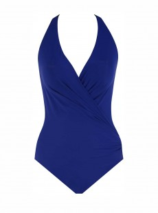 "Maillot de bain 1 pièce gainante Wrapsody Bleu - Rock Solid - "" M "" - Miraclesuit Swimwear"