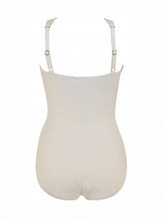 "Maillot de bain gainant Europa Blanc - Rock Solid - ""M"" - Miraclesuit Swimwear"