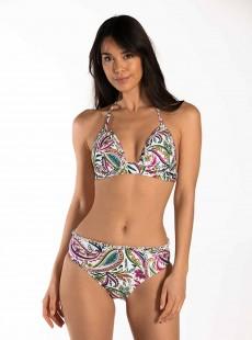 Haut de maillot de bain tour de cou imprimé floral - Wajang Floral - Cyell