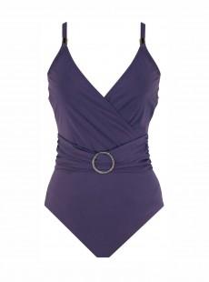 Maillot de bain lissant 1 pièce Getty violet - Oil Slick - Amoressa