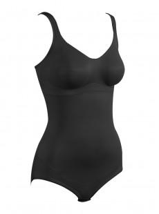 Body avec armature tissu noir - Flexible Fit - Miraclesuit Shapewear